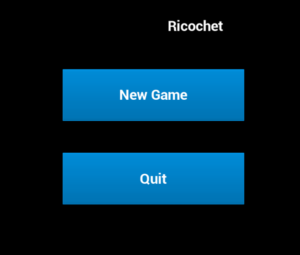 Ricochet Title Screen